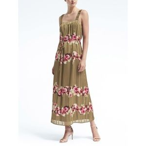 Banana Republic Lucia Floral Stripe Apron Dress